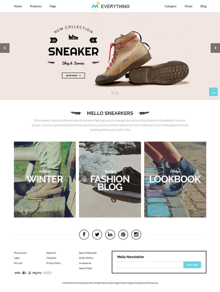 A suitable Magento 2 theme Everything