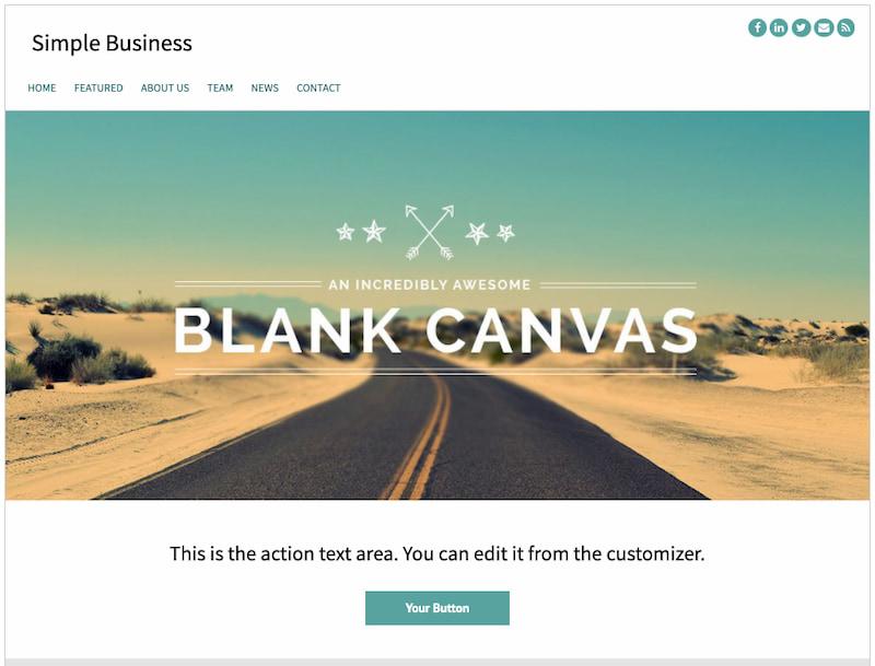 Simple Business Free minimalist wordpress themes