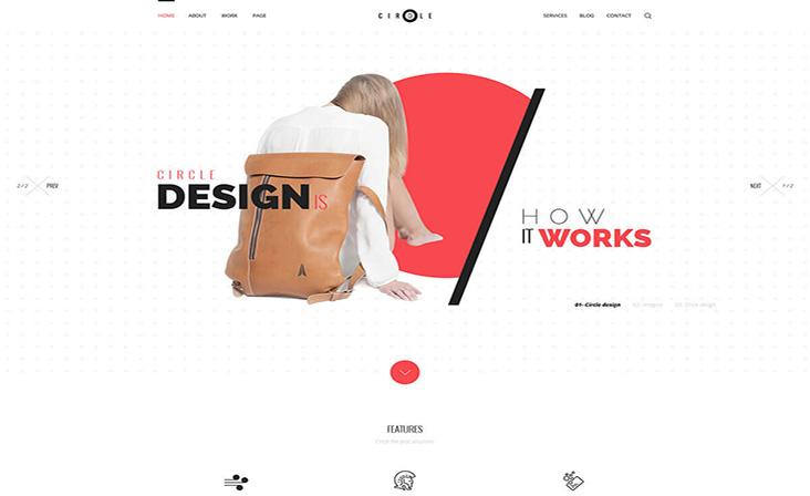 Circle free wordpress theme