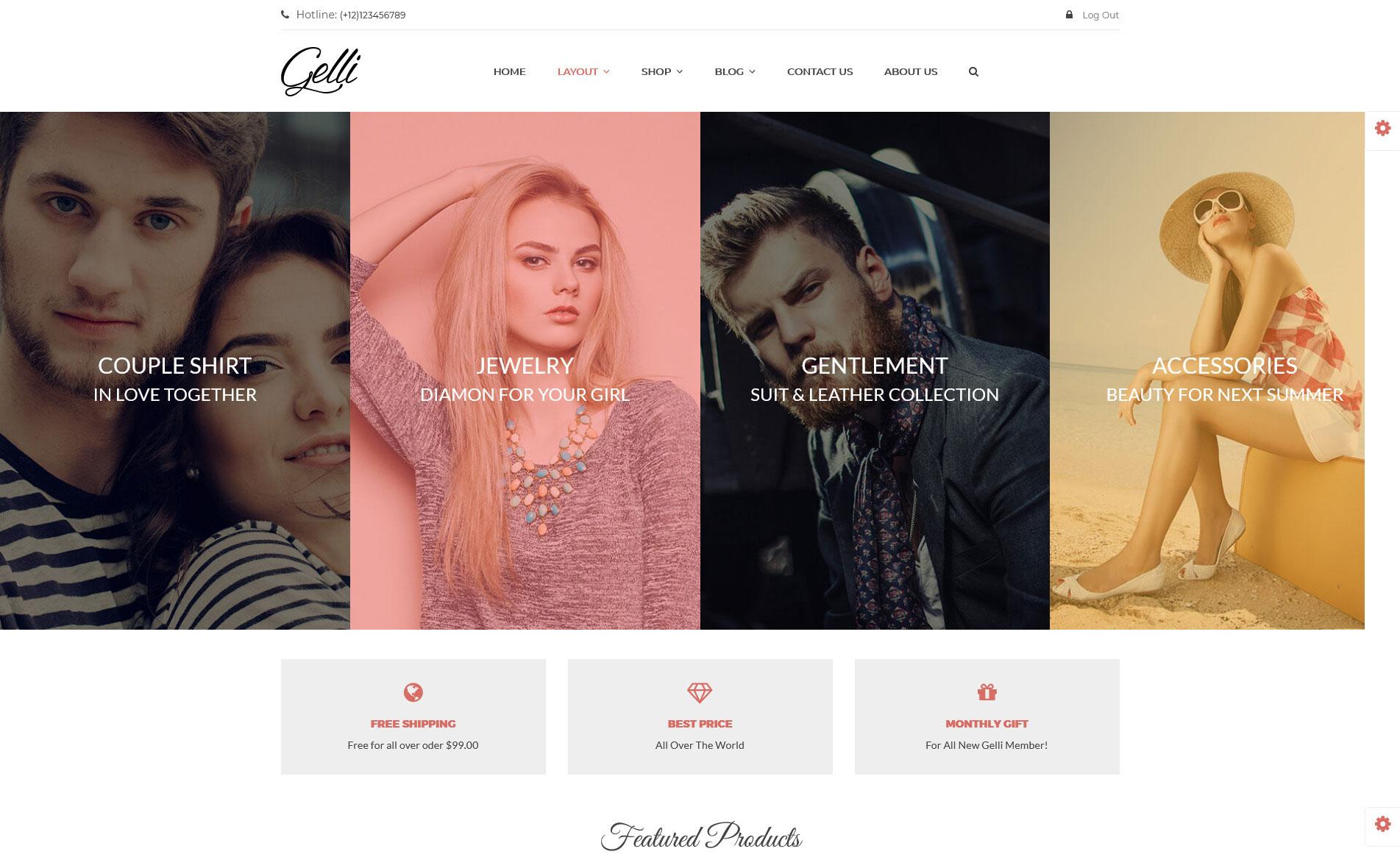 Gelli free wordpress theme