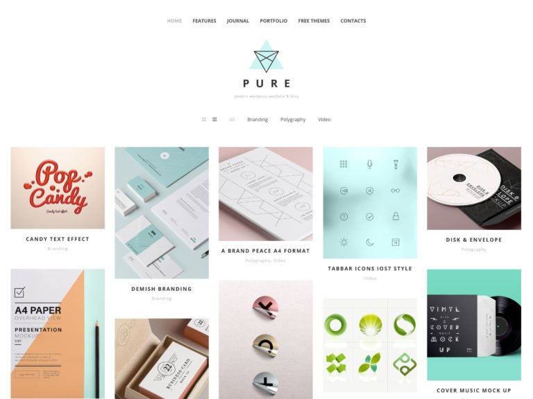 Pure Free minimalist wordpress themes
