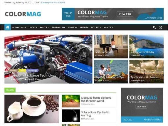 ColorMag Free minimalist wordpress themes
