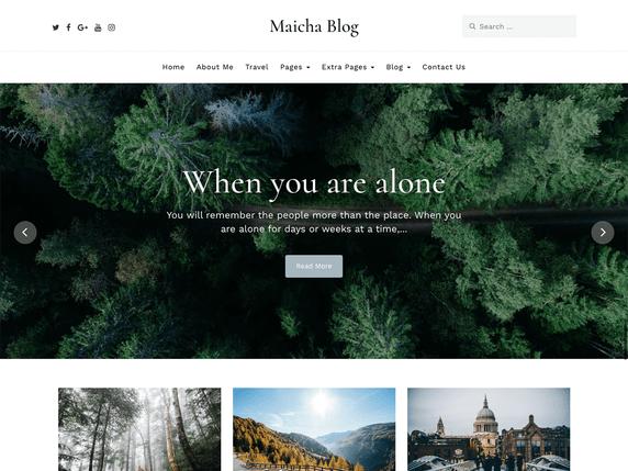 Maicha Free minimalist wordpress themes