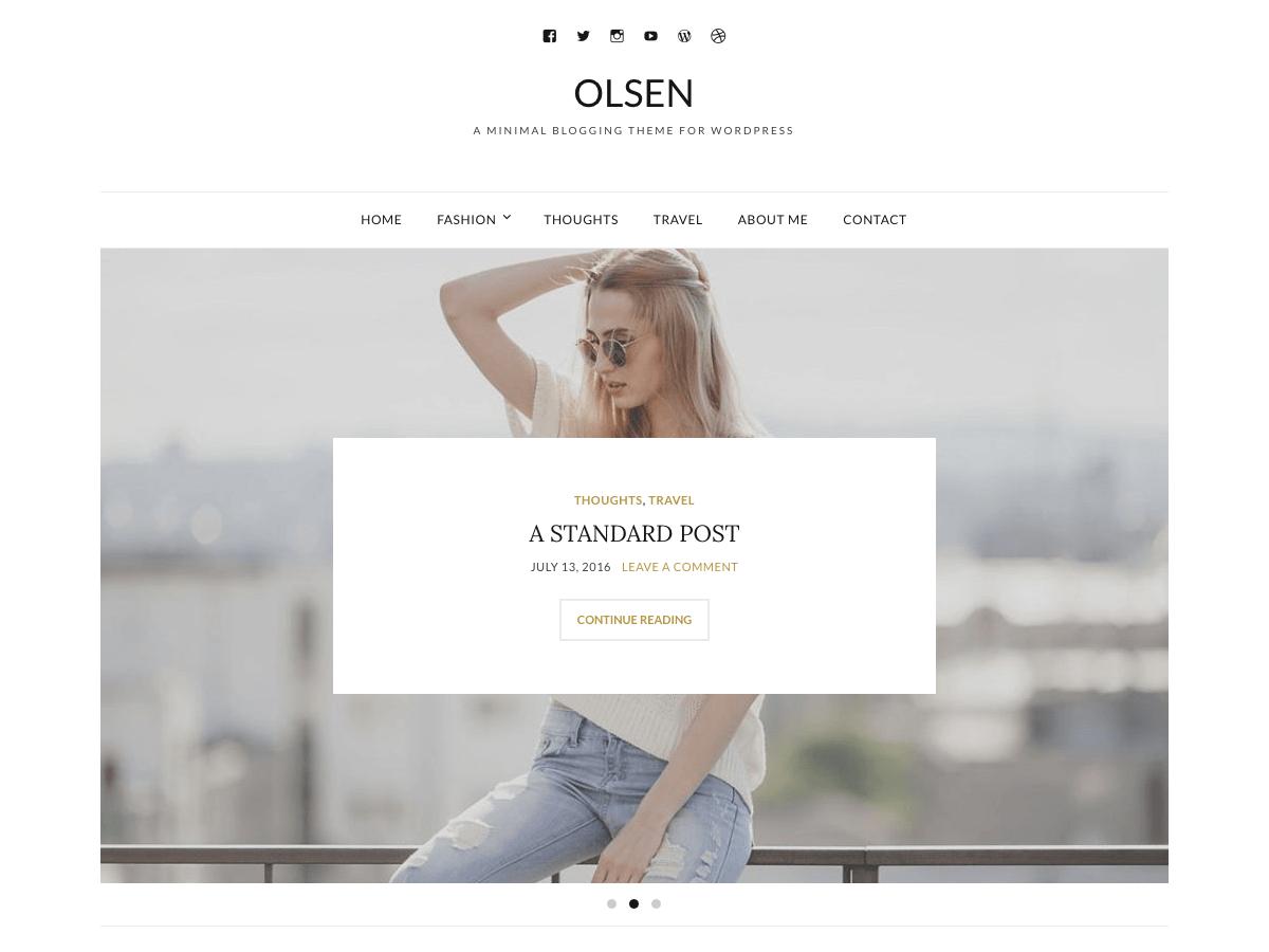 Olsen Light Free minimalist wordpress themes