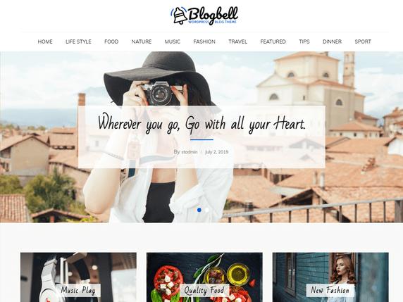 BlogBell Free Minimalist WordPress Themes