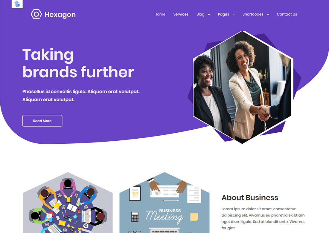 Hexagon personal WordPress Theme free