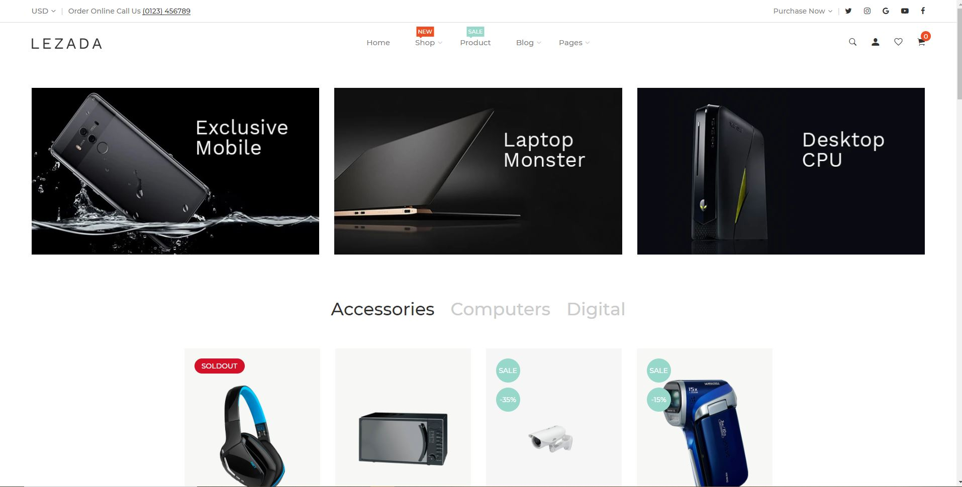 Lezada Shopify electronics theme