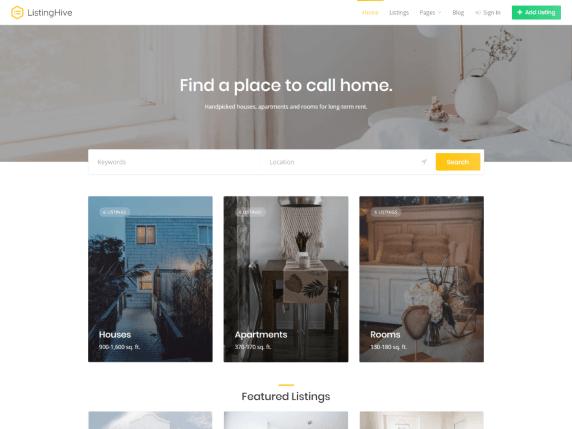 ListingHive Free estate WordPress themes
