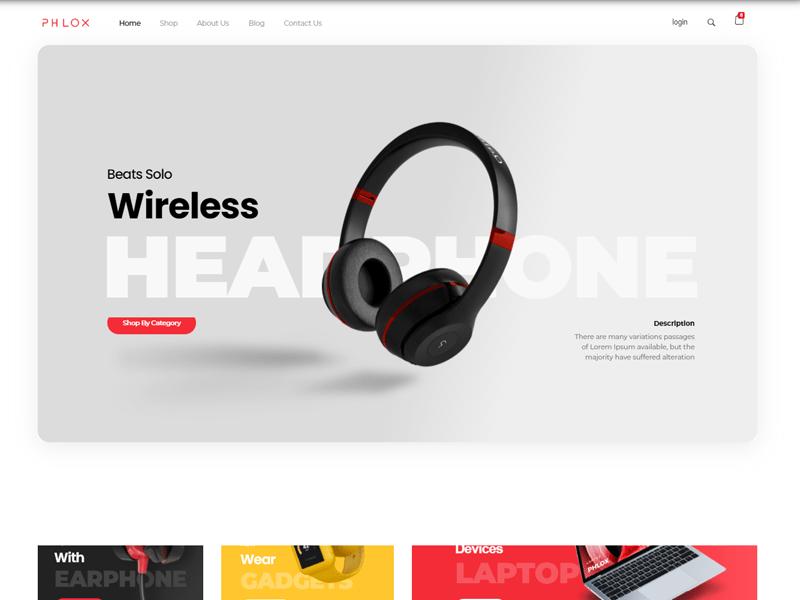 Phlox free WooCommerce Theme