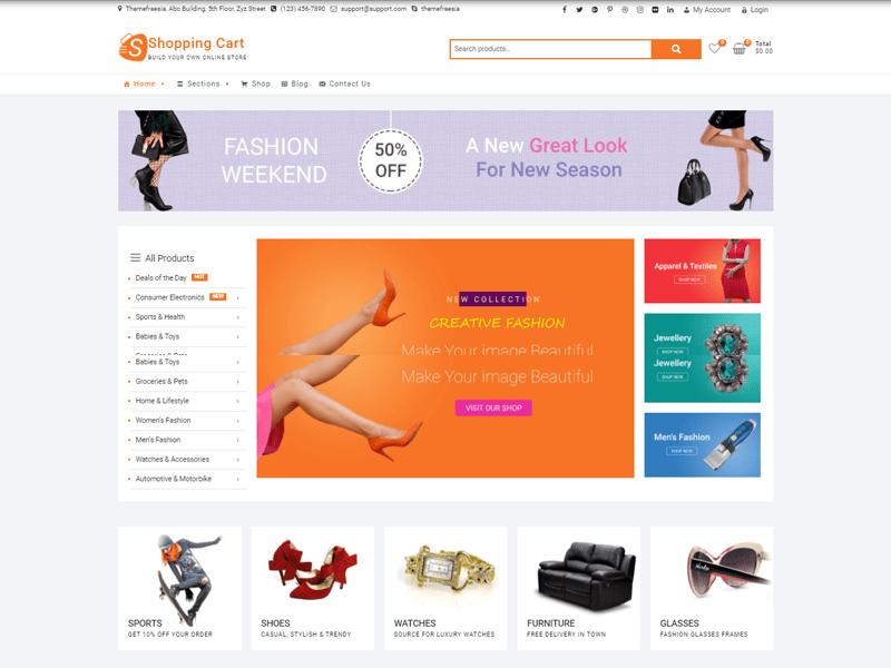 Shopping Cart free eCommerce Theme