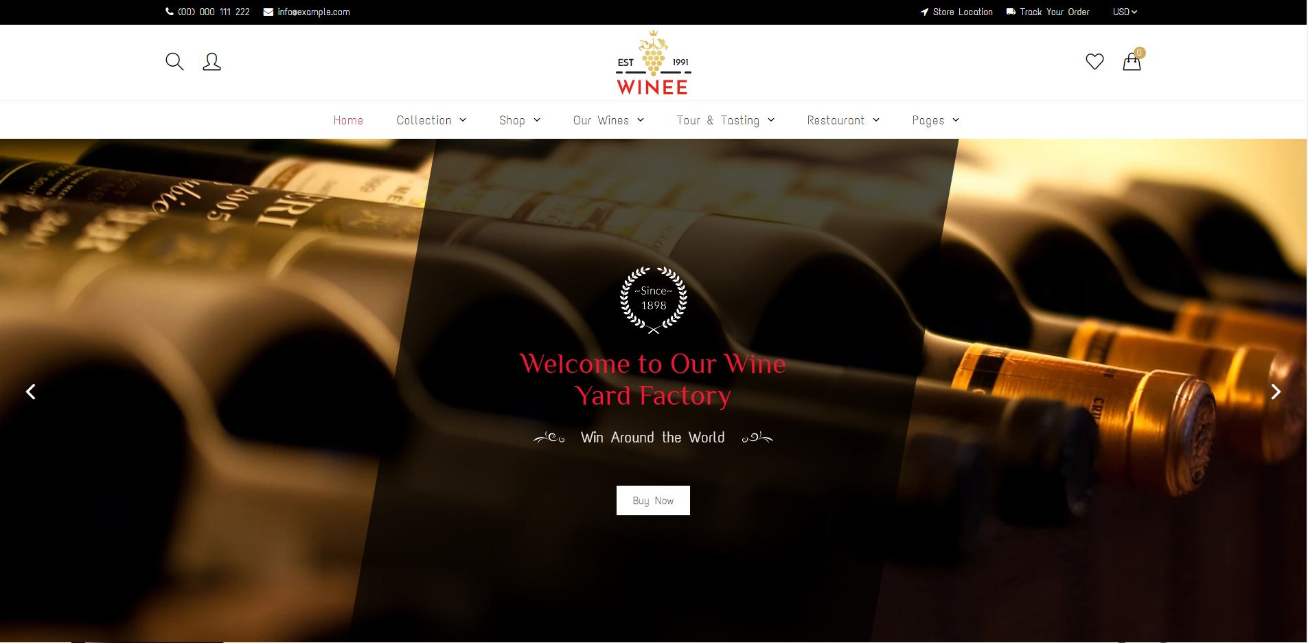 Shopify Wine Theme