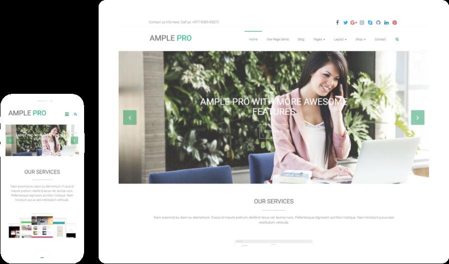 Ample Free WordPress Theme