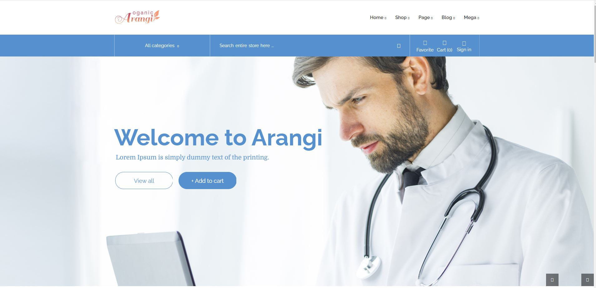 medical Woocommerce themes