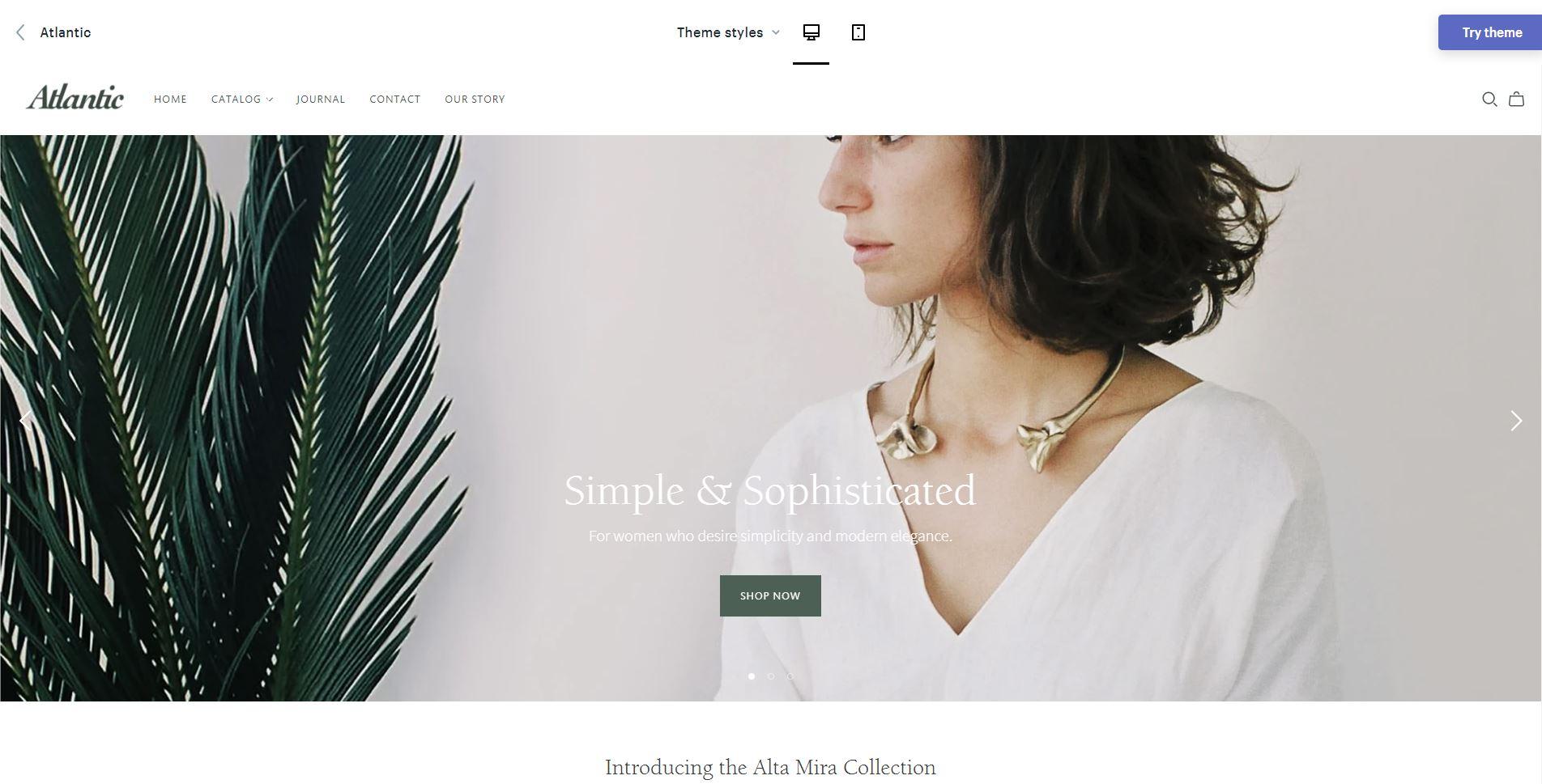 Shopify Jewelry theme