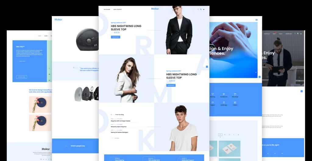 Mokar Free Portfolio Themes