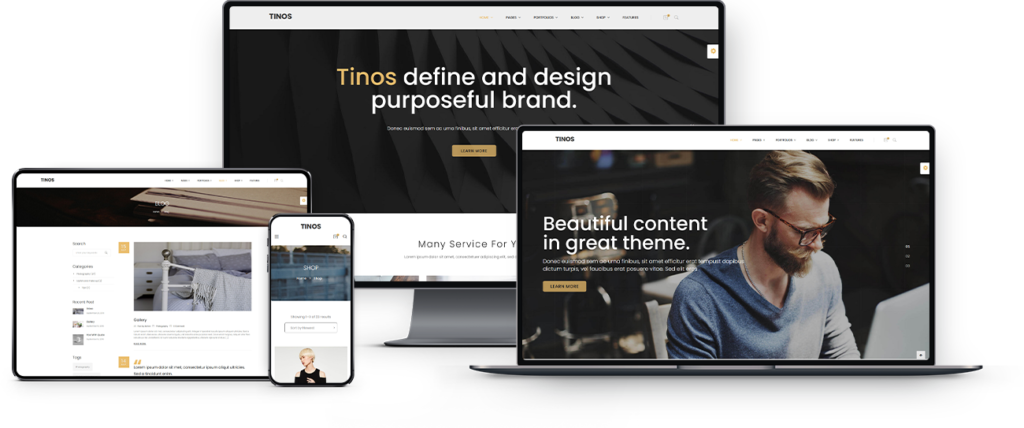 Tinos wordpress theme free