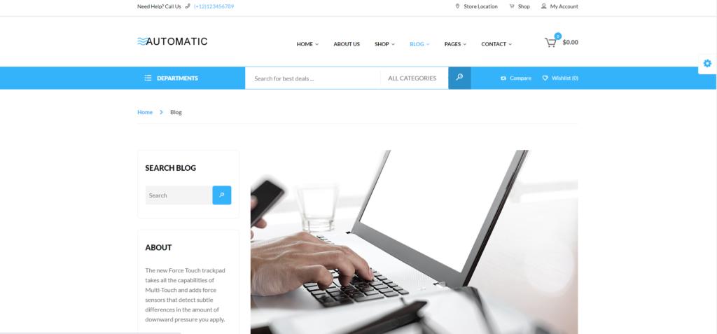 automatic free wordpress blog themes