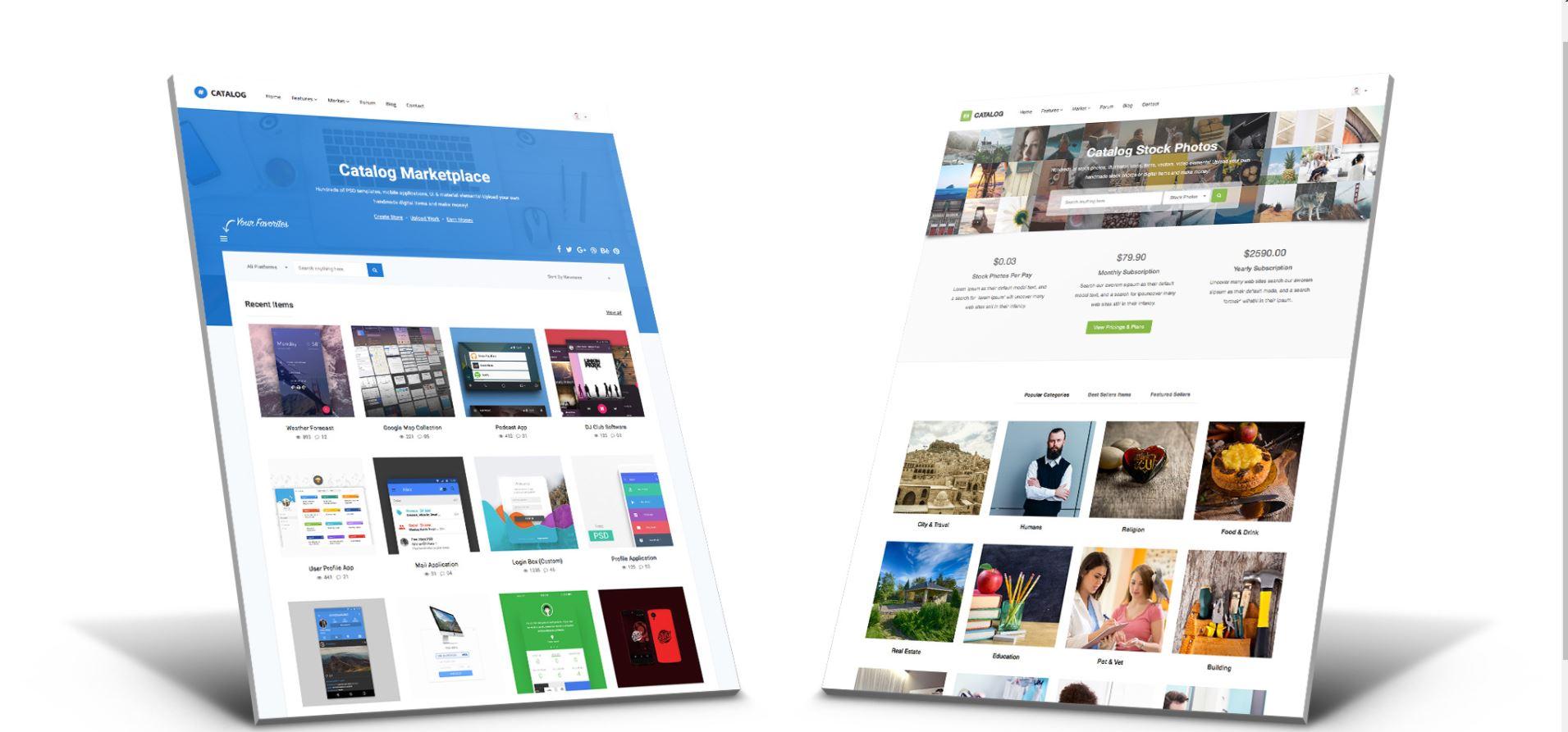 WordPress marketplace themes