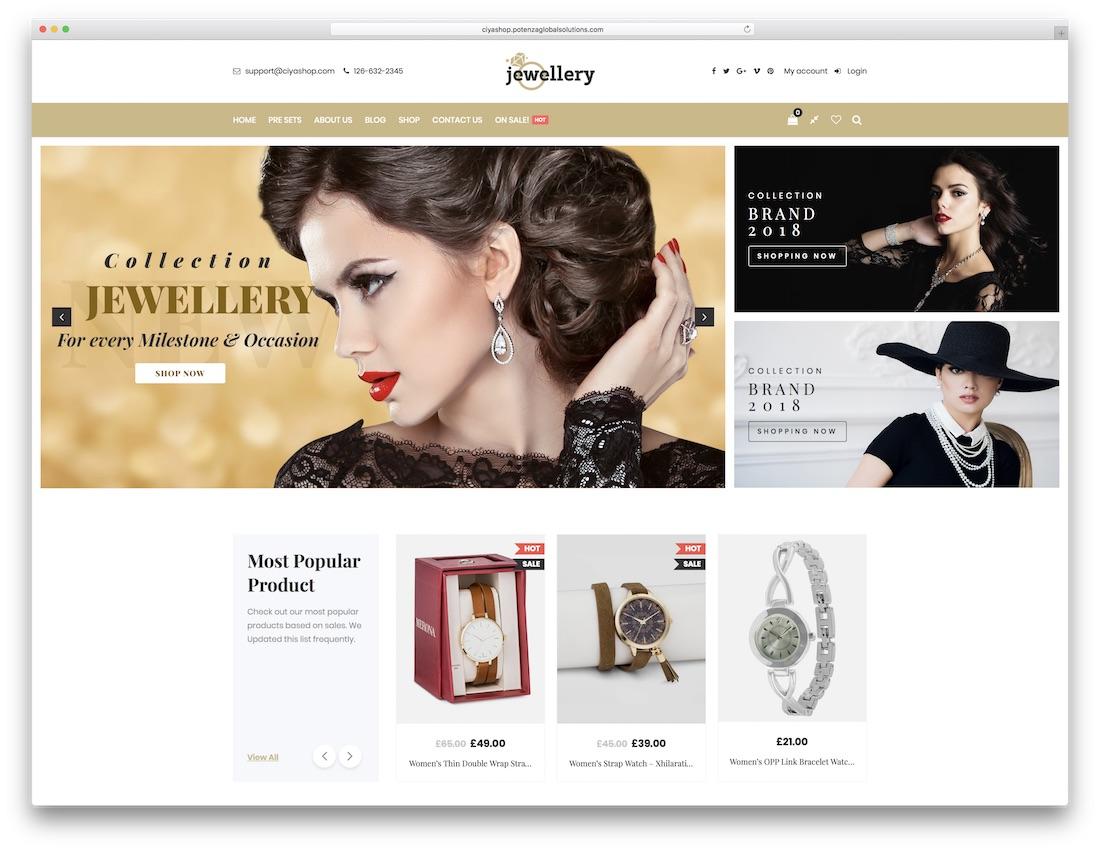 WooComerce Jewelry Themes