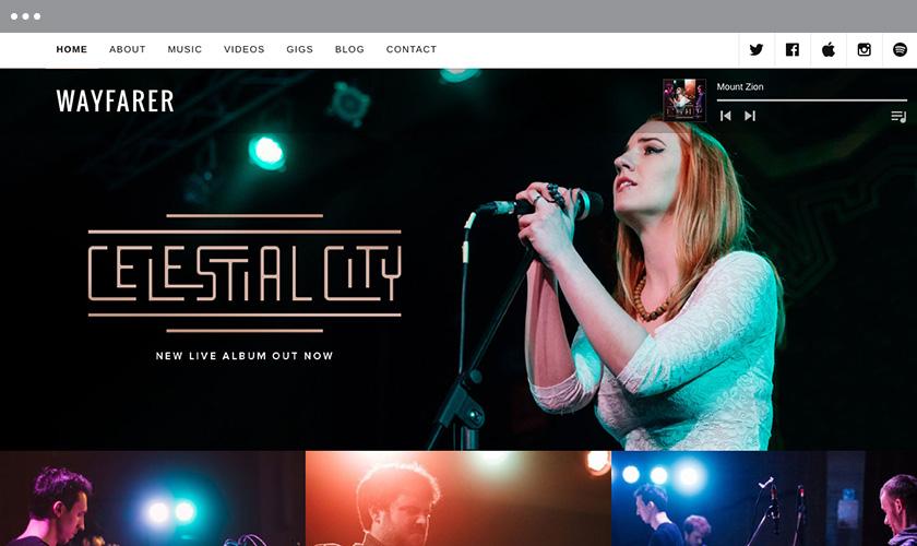 Wayfarer Free music WordPress Themes