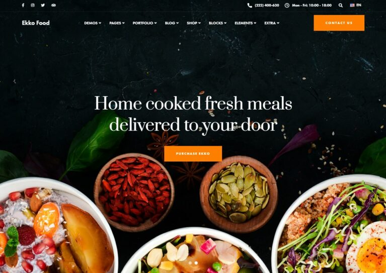 Food WooComerce themes