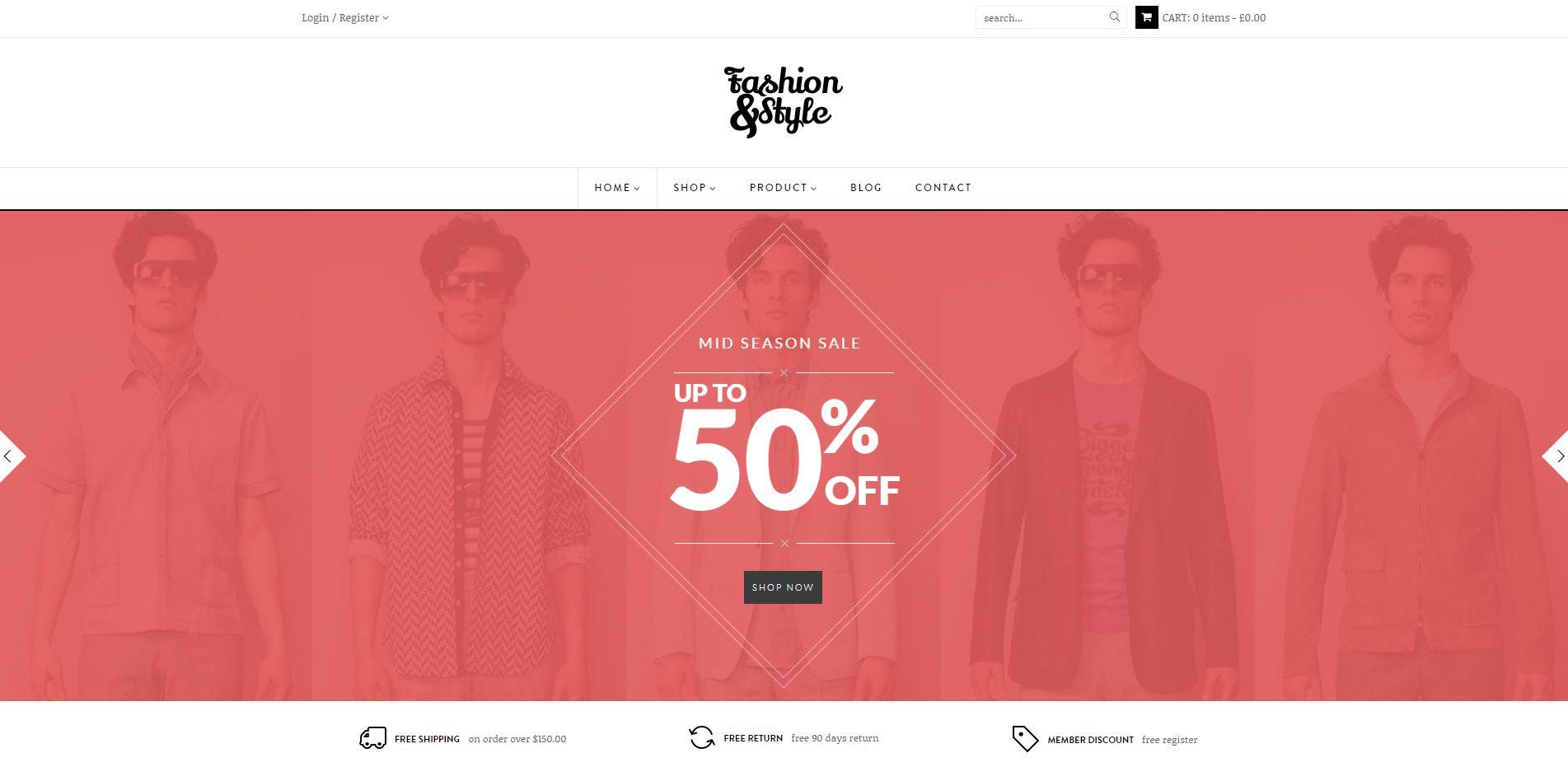 Fashion WooComerce Responsive WordPress Theme