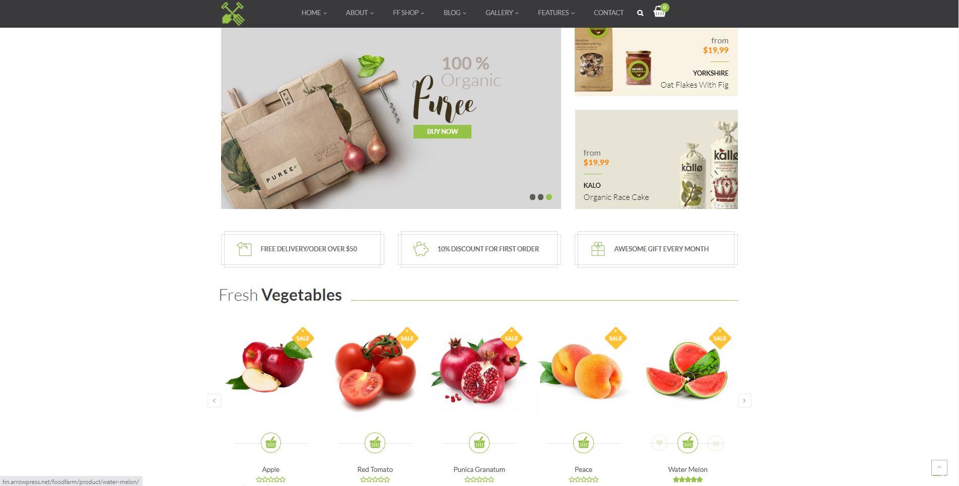 FoodFarm minimal Woocommerce themes
