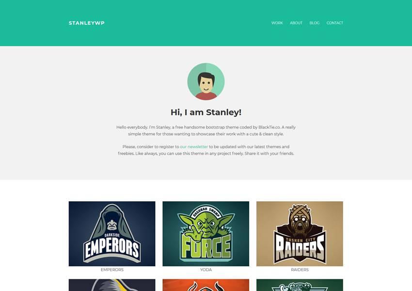 StanleyWP portfolio themes free
