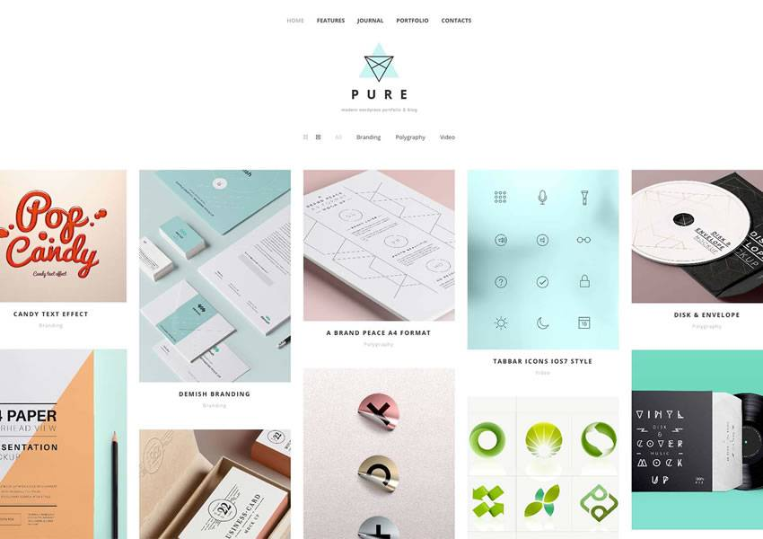 pure free wordpress theme