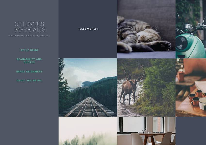 Ostentus wordpress portfolio themes free