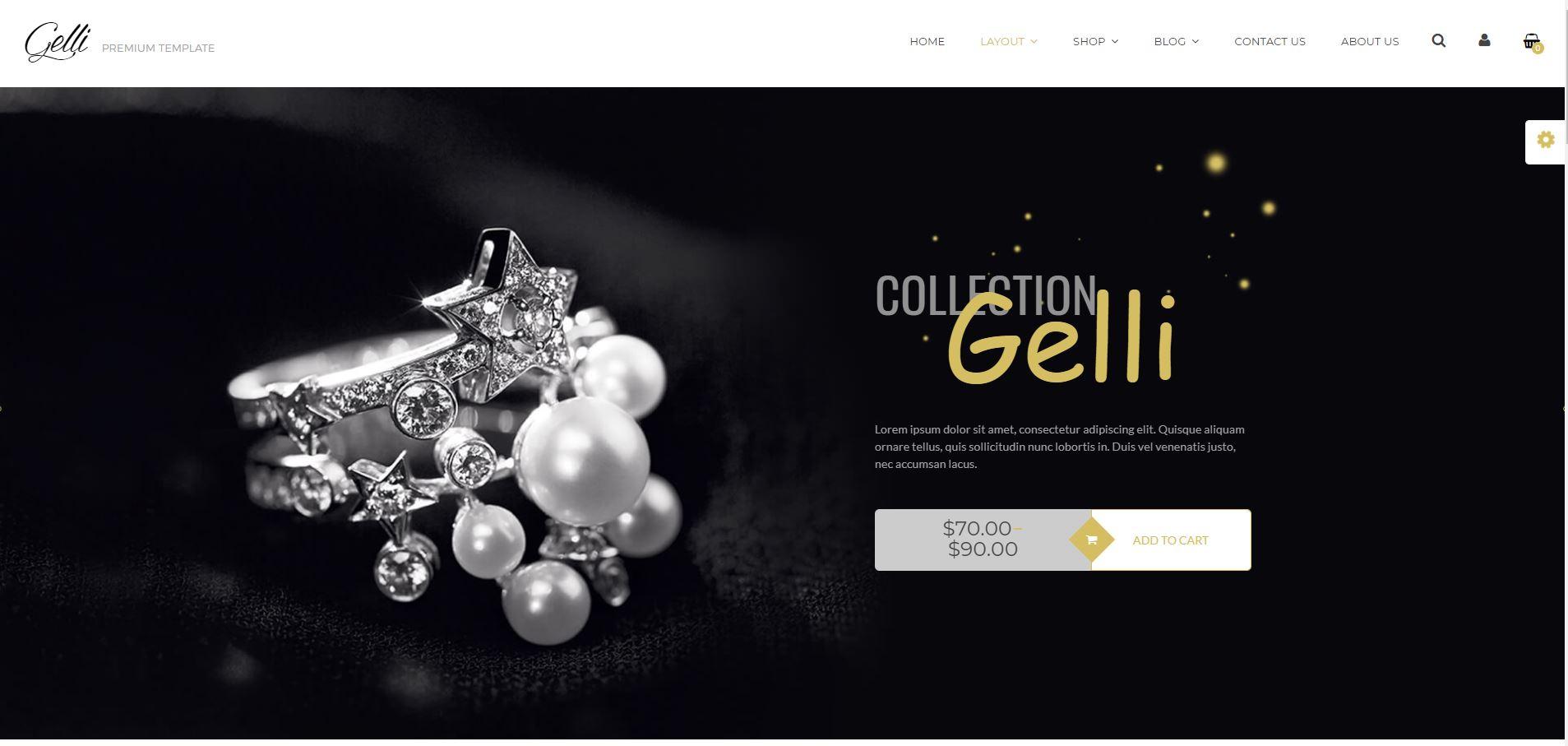 Gelli WooComerce Jewelry Themes