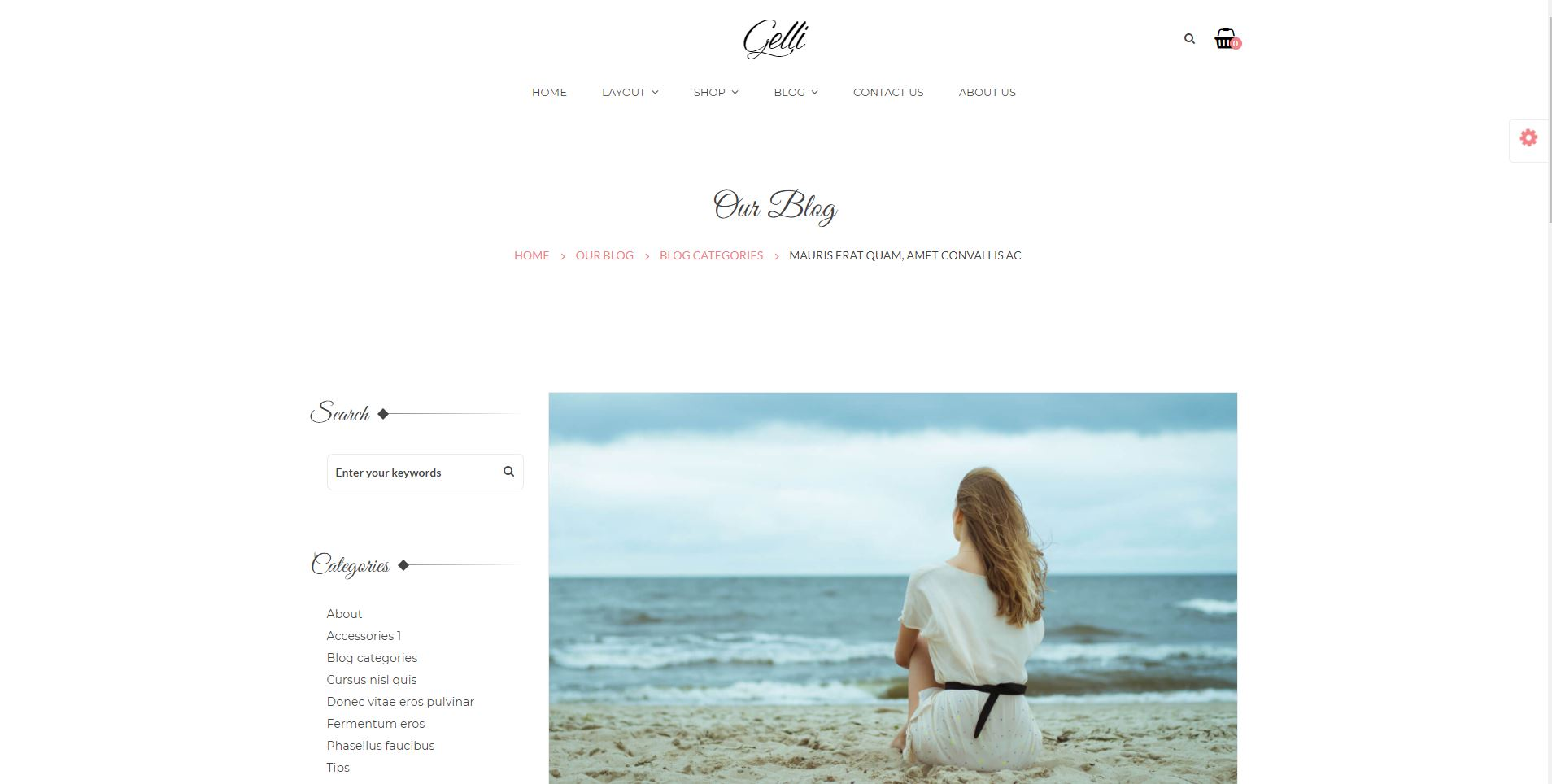 Gelli personal WordPress Theme free