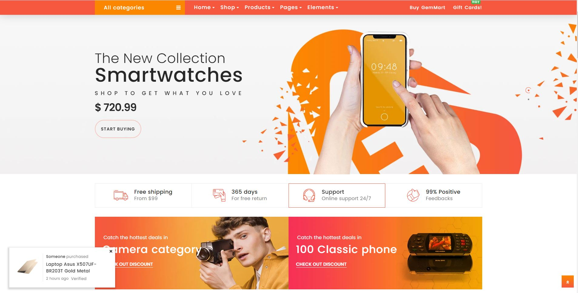 Shopify electronics theme