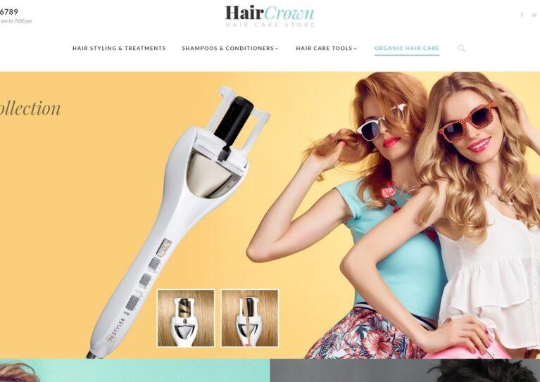 Hair salon magento theme