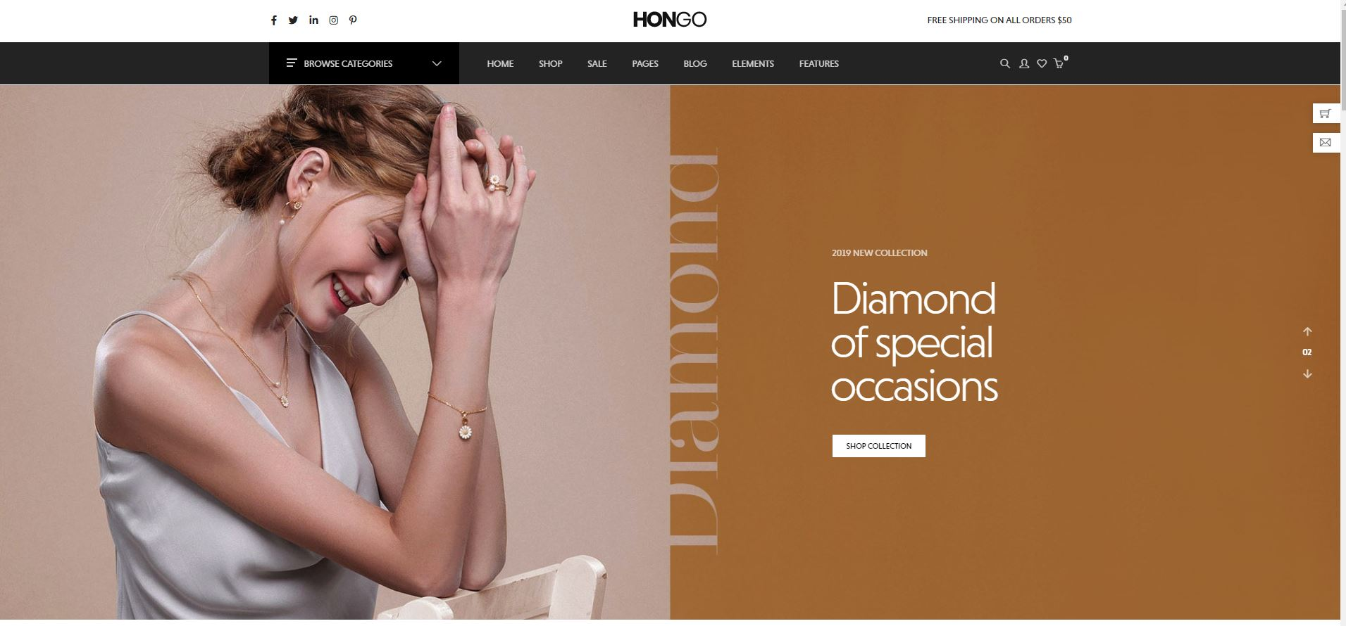 Hongo WooComerce Jewelry Themes