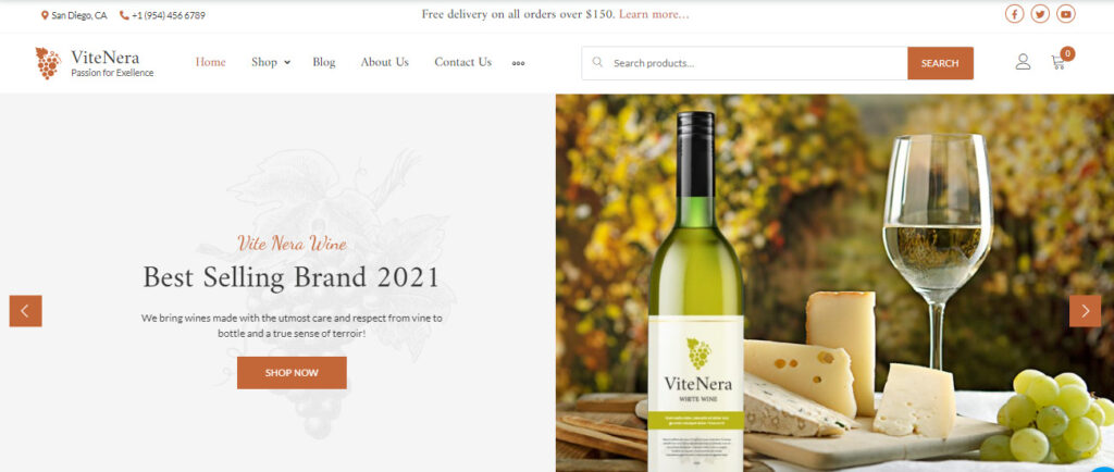 wine shop Woocommerce themes