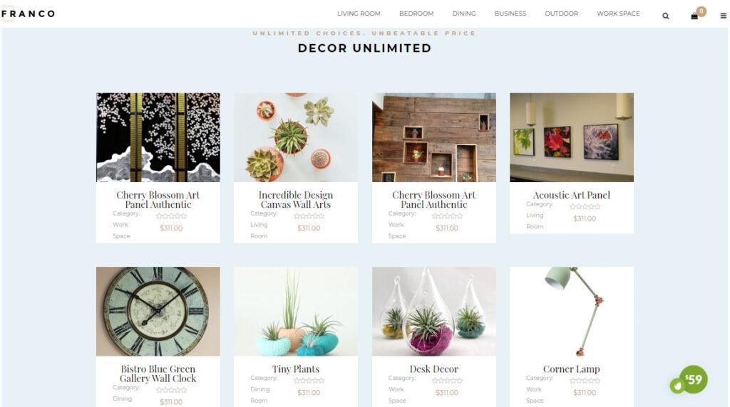 decorations woocommerce themes