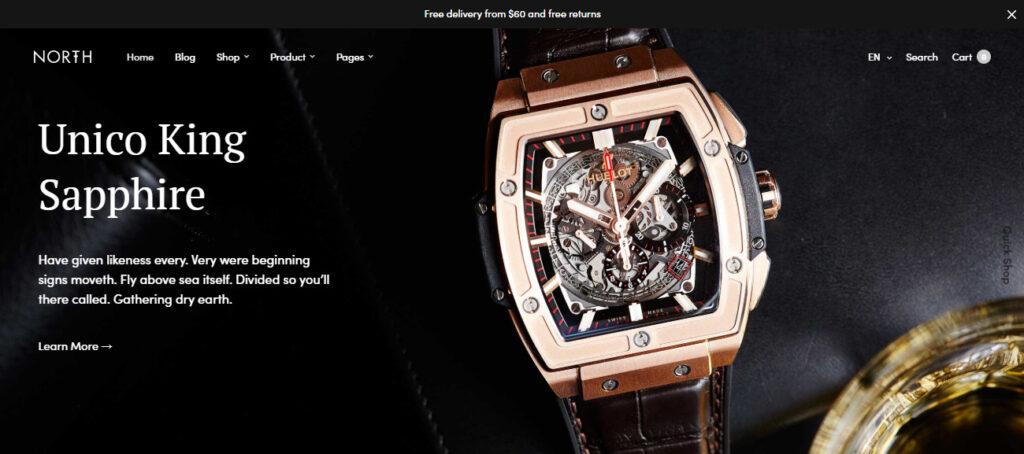 luxury watches Woocommerce themes
