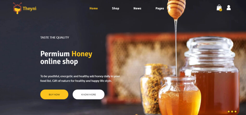Shopify restaurant theme