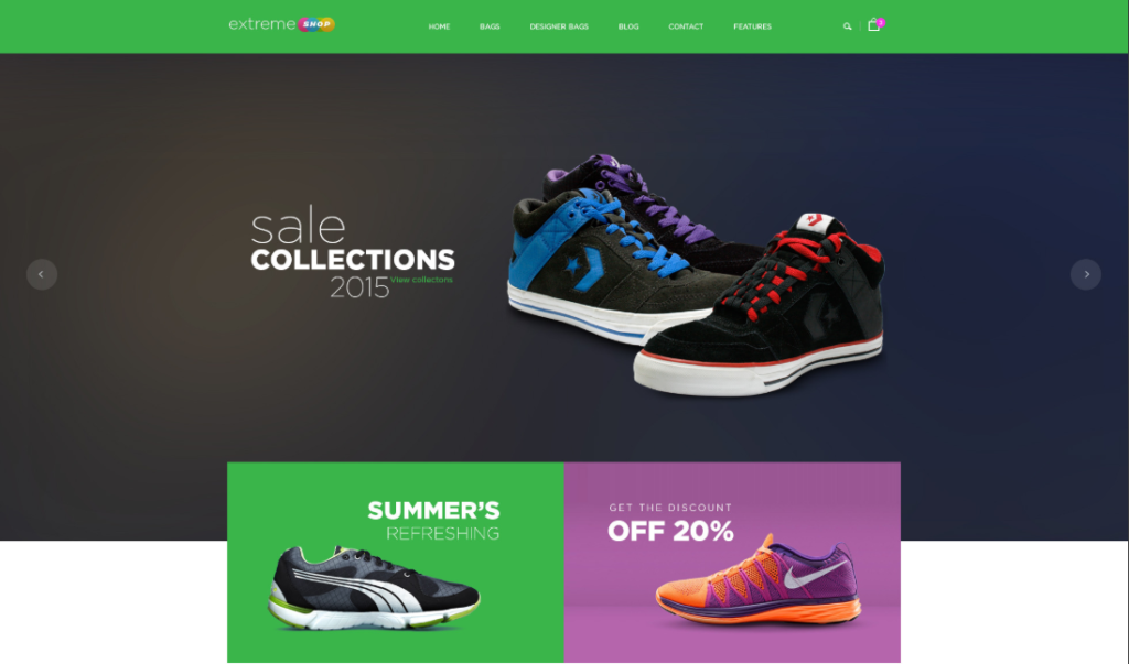 the right shoes Magento theme