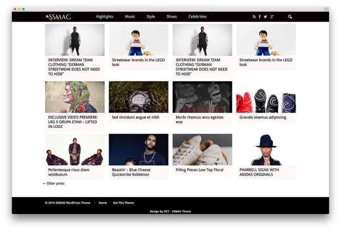 The SSMAG free wordpress blog themes