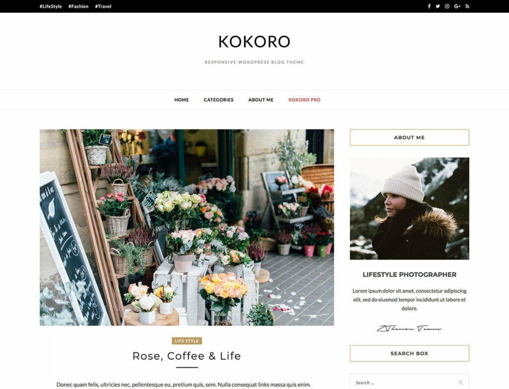 Kokoro free wordpress blog themes