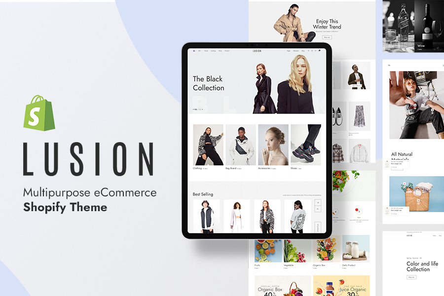 Lusion - ecommerce website themes for Shopify