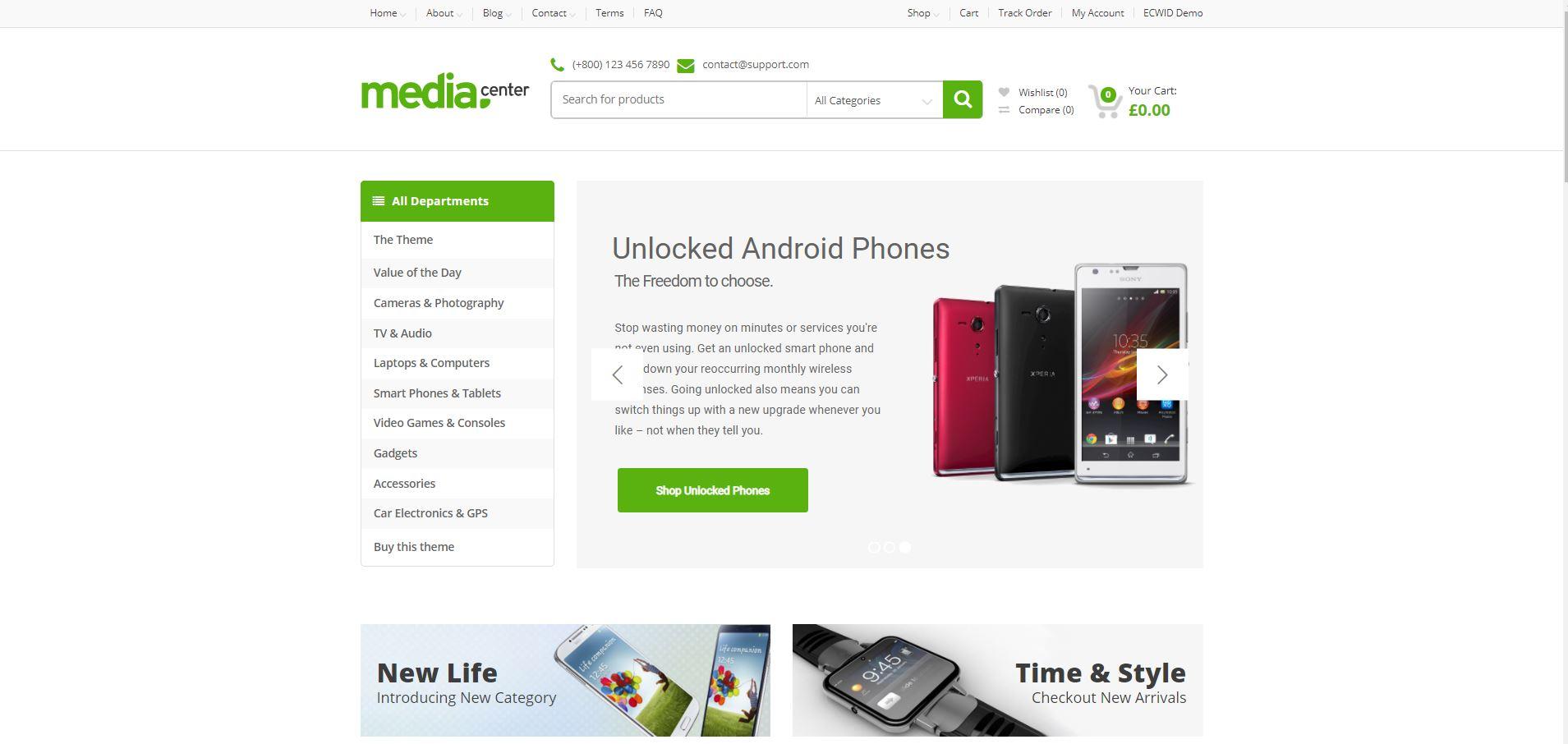 MediaCenter Electronics woocommerce themes