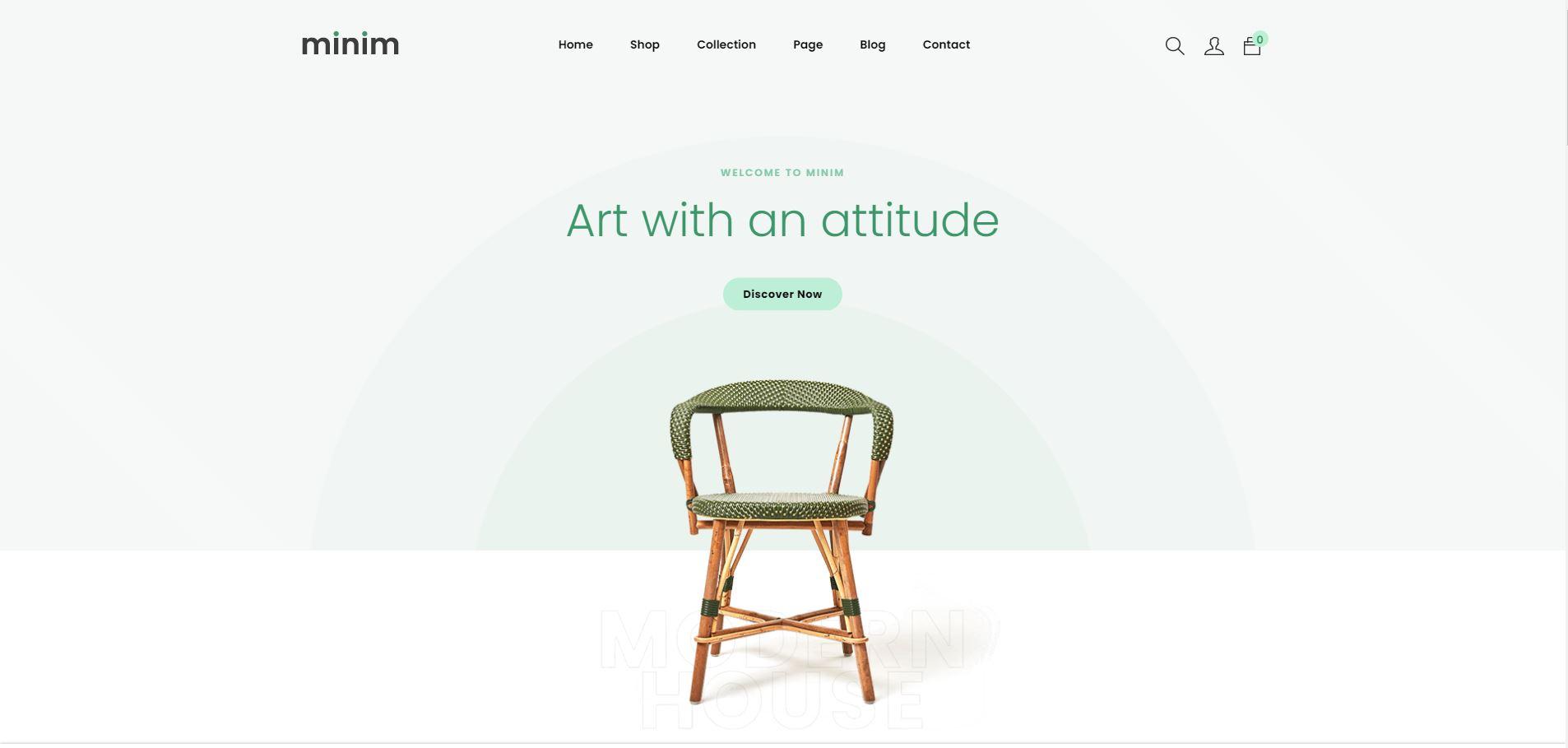 Minim – Minimal & Clean Furniture Store Shopify Theme