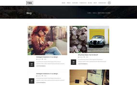 Fekra free wordpress blog themes
