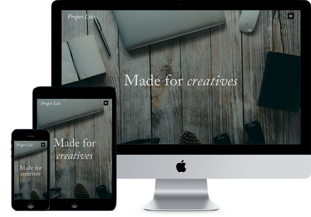 Proper Lite wordpress portfolio themes