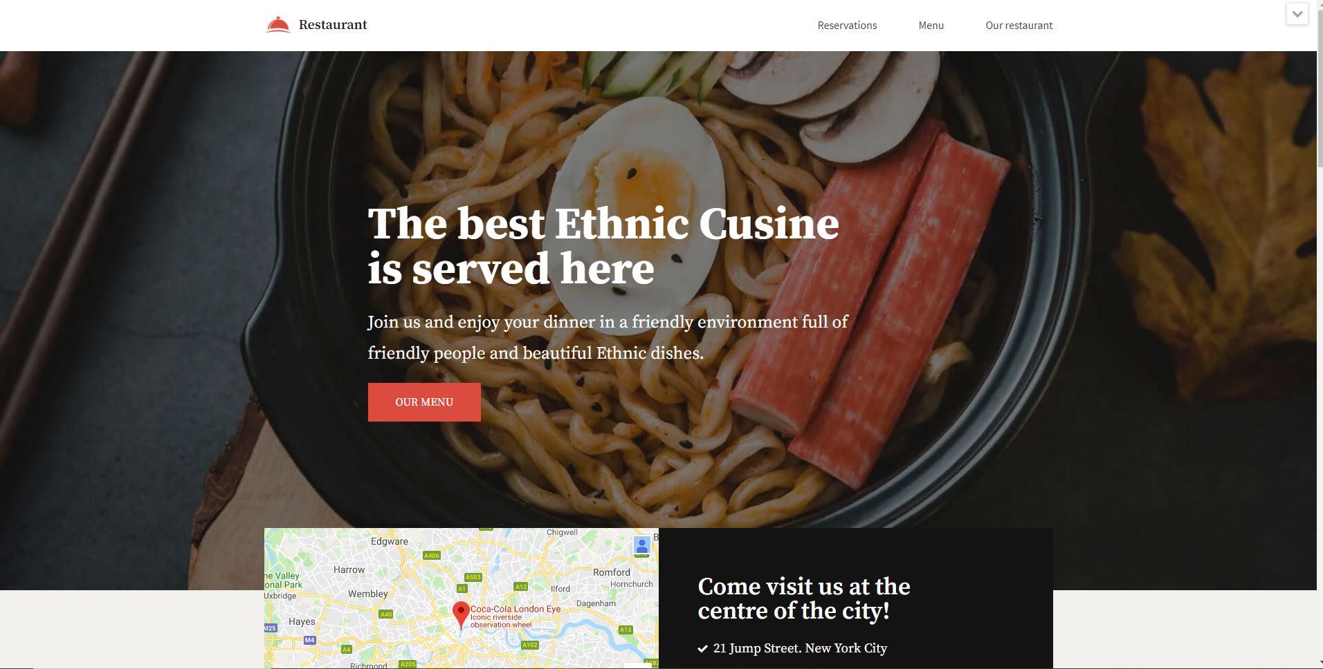 wordpress restaurant theme free