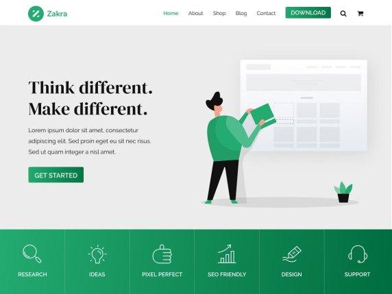 Zakra free wordpress blog themes