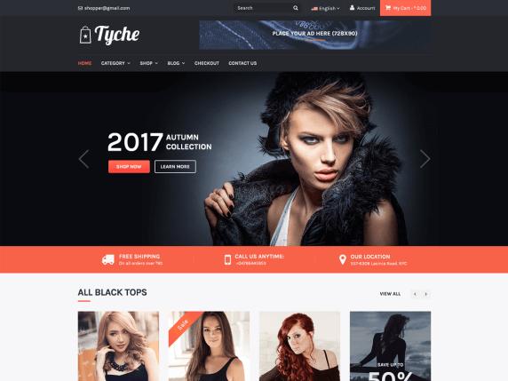Tyche Free eCommerce Theme